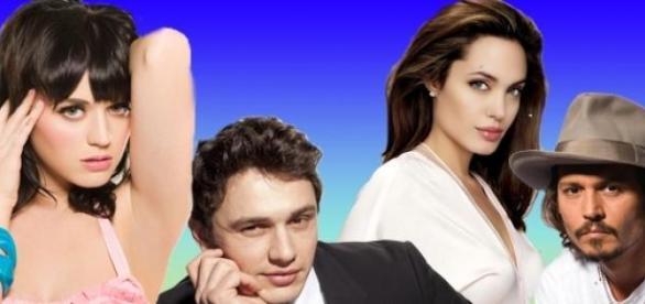 Katy, James Franco, Angelina Jolie e Johnny Deep