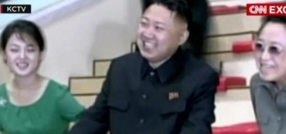 Kim Kyong Hui, alături de nepotul său, Kim Jong Un