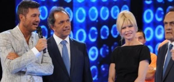 Tinelli junto a Scioli y Rabolini