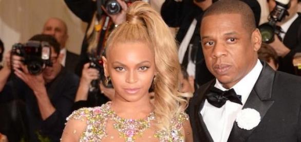 Beyoncé et Jay Z au MET Gala à New York.