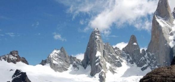Cerro Torre, ubicado en el sur de la Patagonia