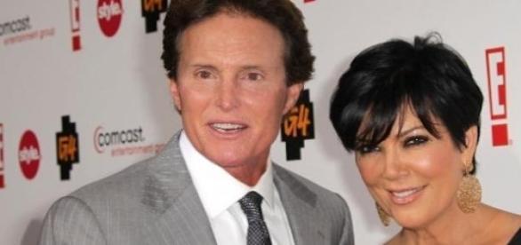 Kris Jenner et son ex mari Bruce Jenner.