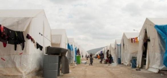 Un camp de personnes déplacées en Irak.