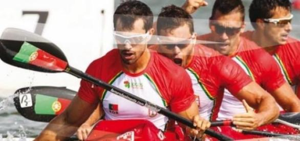 Canoístas da seleção Portuguesa em competição