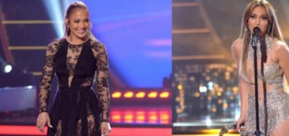 Jennifer Lopez com dois vestidos muito reveladores