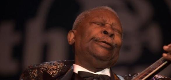 B.B. King e a sua Lucille numa das suas actuações