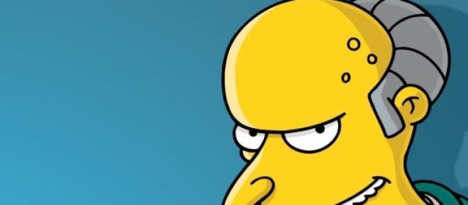 Mr. Burns, se queda sin voz
