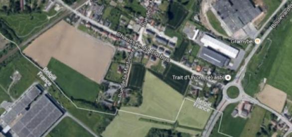 La frontière entre Wattrelos et Mouscron.
