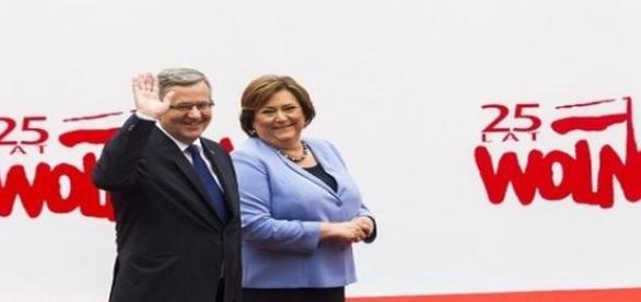 Prezydent Komorowski wraz z małżonką