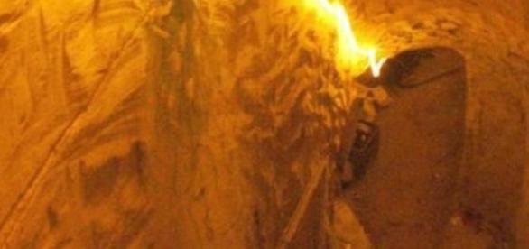 Tunelul a fost descoperit de polițiști