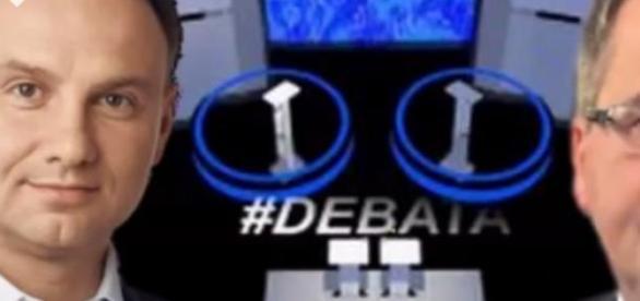 Duda vs Komorowski debata, źródło: YouTube
