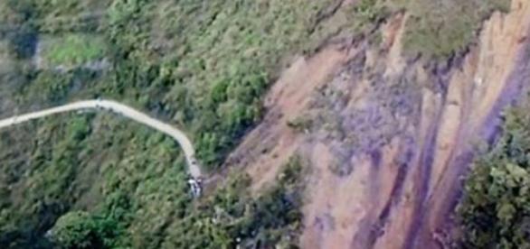 Lawina błotna w Kolumbii.