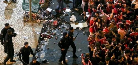 No Marquês a festa acabou precocemente.