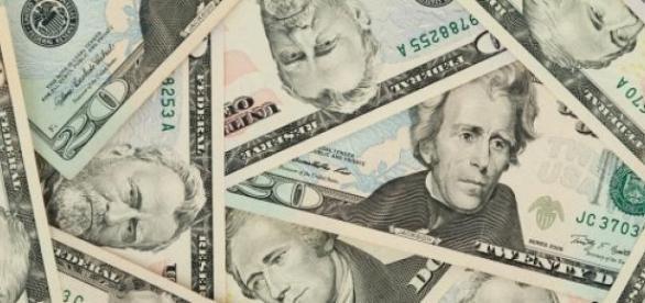 Nota de 20 dólares com o rosto de Andrew Jackson