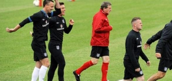 Hodgson (centre) will gather his players in June