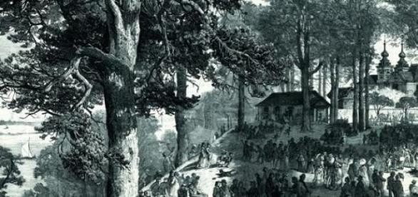 Bielany pod Warszawą w Zielone Świątki 1874