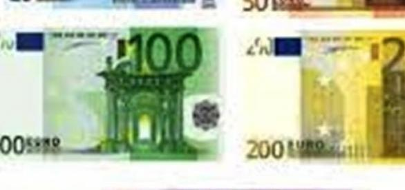 waluta euro - banknoty euro, różne nominały
