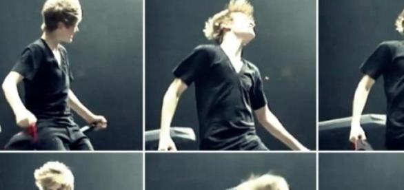 Justin Bieber já gravou o seu videoclip.