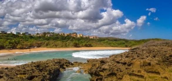 Una de las playas agrestes de Mar Chiquita