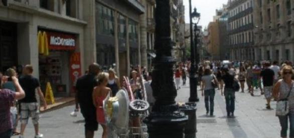 Avinguda Portal de l'Àngel en Barcelona (Foto A.)