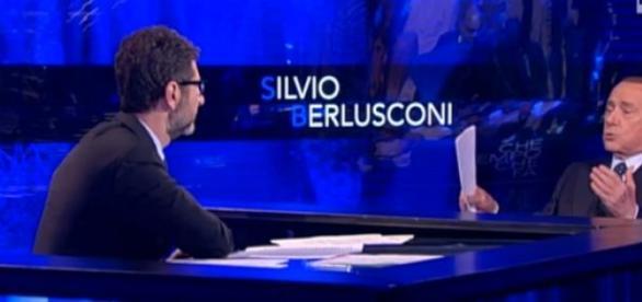 Berlusconi con Fabio Fazio ieri sera