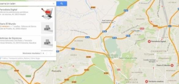 Maps: primera busqueda desde el Pc