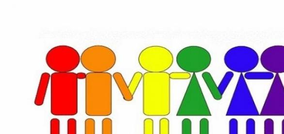 I colori simbolo delle unioni di fatto.