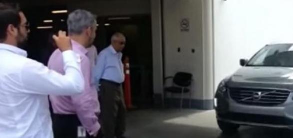 Imagem do vídeo antes do atropelamento.