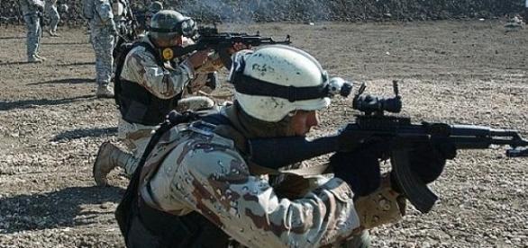 Soldados iraquíes durante un ejercicio