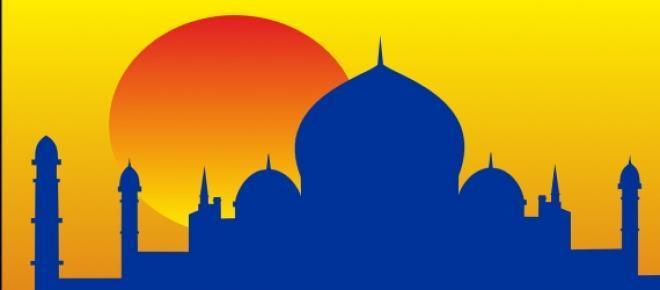Reprodução do Taj Mahal, um dos principais pontos turísticos da Índia, sob o calor do Sol.