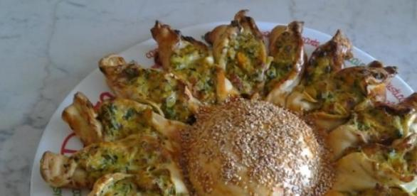 Il girasole rustico ripieno di ricotta e spinaci