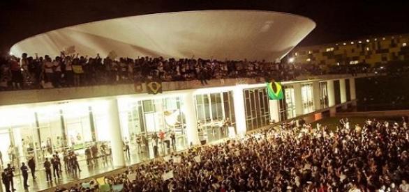 Manifestação em Brasila de junho 2013