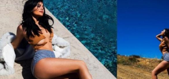 Kylie Jenner muito atrevida no Instagram