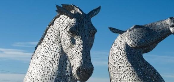 The Kelpies in Falkirk, Scotland