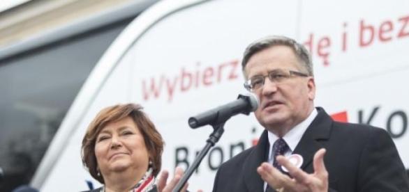 Bronisław Komorowski podczas kampanii wyborczej,