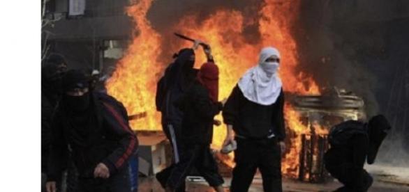 Disturbios en marcha estudiantil Chile