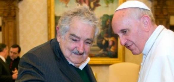 Il Presidente Mojica con il Papa