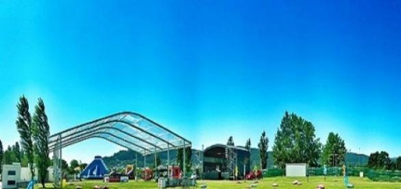 Recinto Aqua Fest no Parque da Cidade
