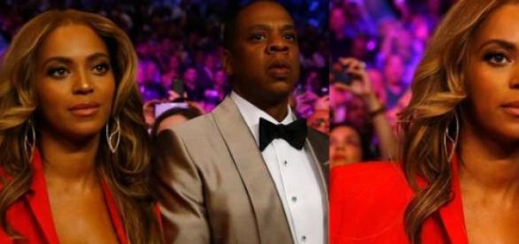 Beyoncé deslumbrante ao lado de Jay Z