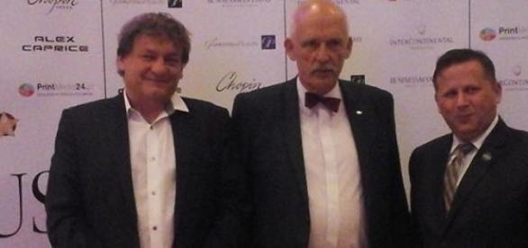 Korwin-Mikke i Tymochowicz (fot. Marcin Rola)