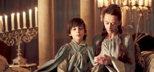 Robin Arryn com sua mãe - Game of Thrones