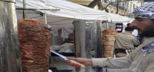Shawarma, comida típica de 'Oriente Medio'
