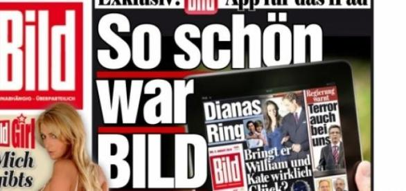 Bild-Zeitungs cover - Internet