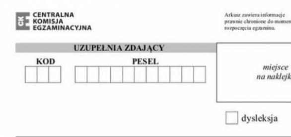 Arkusz maturalny z języka polskiego 2015