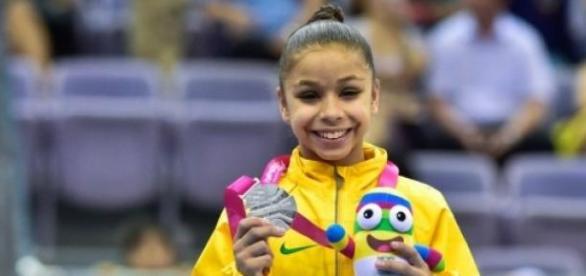 A ginasta Flávia Saraiva (Foto: Reprodução)