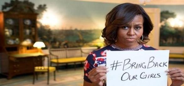 O movimento 'BringBackOurGirls' tornou-se viral.