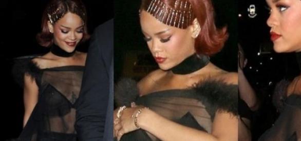 Rihanna no after-party após o MET