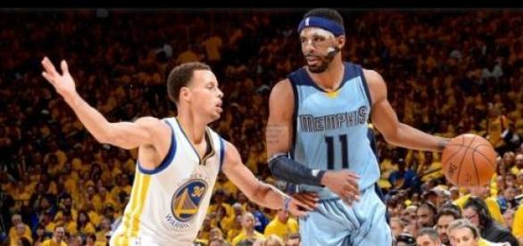 Mike Conley conseguiu parar o MVP Stephen Curry