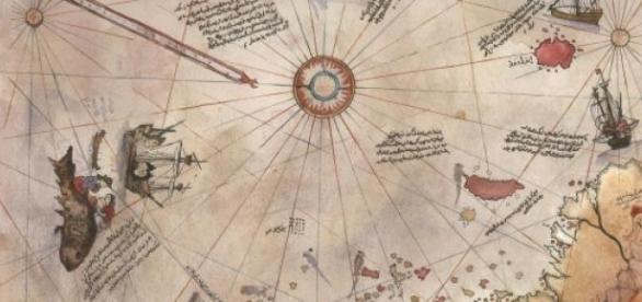 Harta lui Piri Reis  descoperita la Topkapi