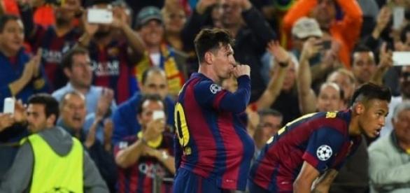 Lionel Messi scored a brace against Bayern Munich